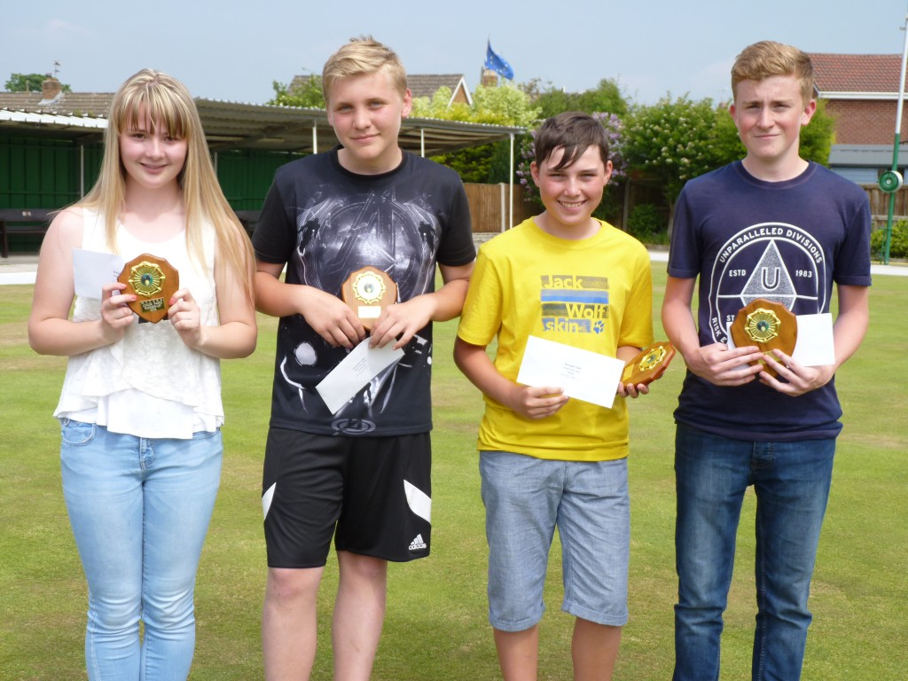 Junior Pairs Finalists. Runners-up Katerina Southern & Mark Wood and winners Jamie Isaac & Joseph Nugent.