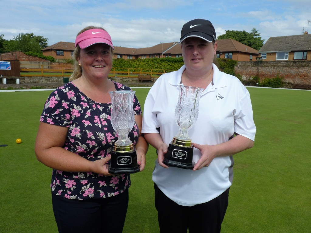Anita Richardson & Lynsey Gorman who won the Mavis Dearden Pairs for a third consecutive year.